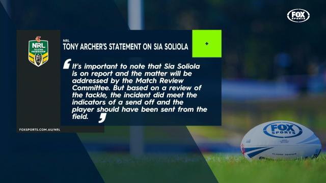 Statement on Soliola's strike