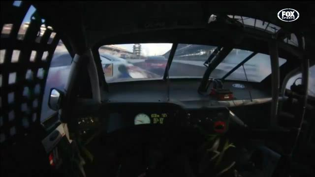 NASCAR crash from helmet cam
